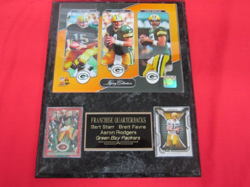 Bart Starr Brett Favre Aaron Rodgers Packers 2 Card Collector Plaque w/8x10 Photo LEGACY SERIES Bart Starr Memorabilia