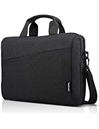 Laptop Shoulder Bag T210, 15.6-Inch Laptop or Tablet, Sleek, Durable and Water-Repellent Fabric, Lightweight Toploader, Business Casual or School, GX40Q17229, Black