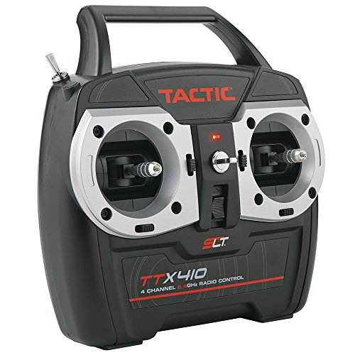 Tactic TTX410 SLT 2.4Ghz 4-Channel RC Air Radio System with Switch Harness: 4CH TX | TR625 6CH Dual RX | No Servos ()