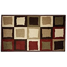 J & M Home Fashions Buffalo Border Woven Area Rug, 23 by 36-Inch