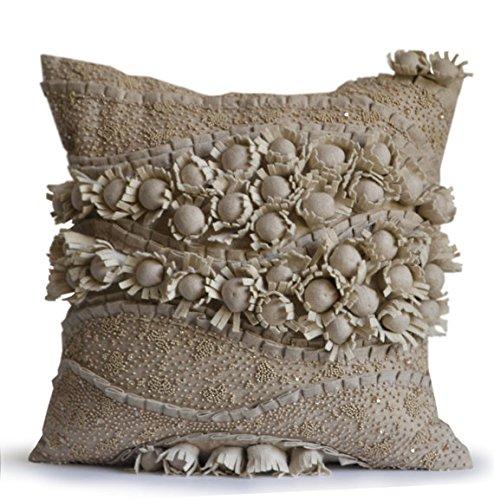 Marca funda para cojín de lino decorativo hecho a mano de ...