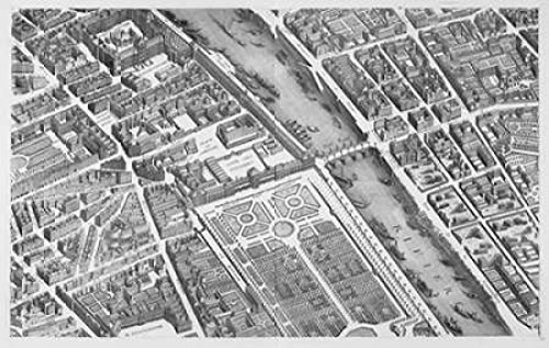Posterazzi PDXMET15LARGE Paris 1739 Sectional map Poster Print by Michel-Etienne Turgot 24 x 36