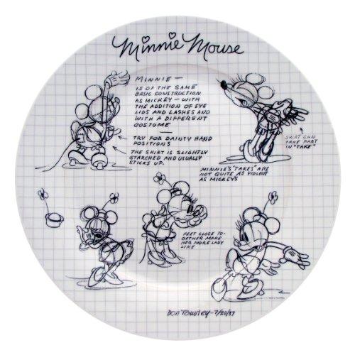 Disney Sketchbook Minnie Dinner Plate, Set of 4
