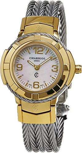 Celtic Womens Watch - Charriol Celtic Small Round Steel PVD Watch, 26mm CE426Y1.640.002