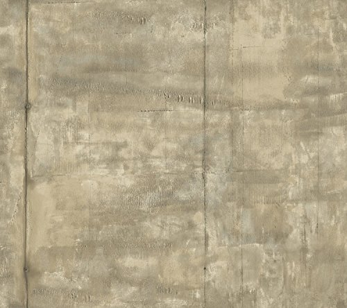 York Wallcoverings RK4417 Urban Chic Pound The Pavement Wallpaper, Beige/Taupe/Grey