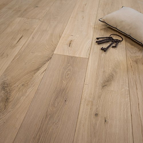 Wide Plank 7 1/2 x 1/2 European French Oak Unfinished (Square Edge) Engineered Wood Flooring Sample at Discount Prices by Hurst Hardwoods - Edge Laminate Flooring