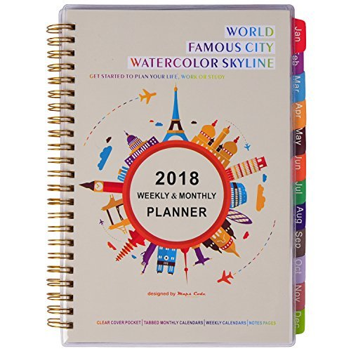 2018 Weekly & Monthly Planner – Daily Planner, 5.75