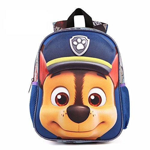 YOURNELO Boys Girls Cute 3D Paw Patrol Waterproof Backpack Preschool Baby's School Bag (A 6) ()