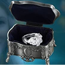 Cyqun(TM) Lord Of The Rings Nenya Galadriel Of Water Silver Ring + Jewelry Box