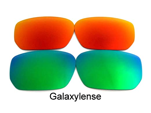 daf6307012 Galaxy Replacement Lenses For Oakley Style Switch Polarized Green Red 2  Pair Size  Regular  Amazon.co.uk  Clothing