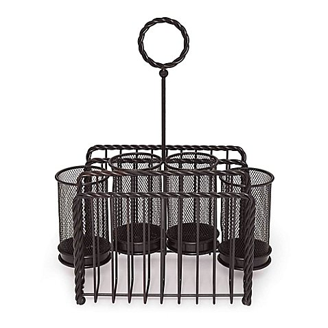 Mikasa Treasure - Gourmet Basics by Mikasa Wire Rope Picnic High-grade Carbon Steel Caddy in Black