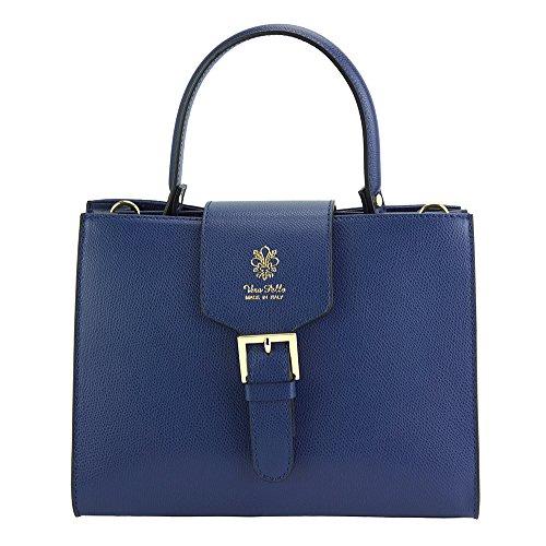 Vittorio Hand Bag In Calfskin-305 Dark Blue