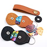 Guitar picks and-pick Holder Case,including 2 Pick Holder Case\10pcs 0.46mm Pick\10pcs 0.71Pick,4pcs 0.91Pick (2 Pick Holder+24Pick)