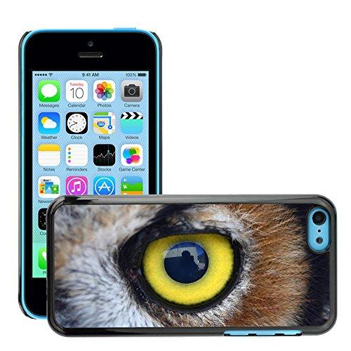 Premio Sottile Slim Cassa Custodia Case Cover Shell // V00002216 Chouette oeil // Apple iPhone 5C