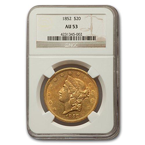 1852 $20 Liberty Gold Double Eagle AU-53 NGC G$20 AU-53 NGC