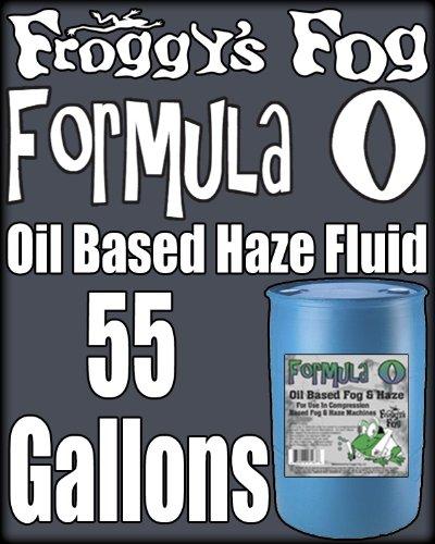 (Froggys Pro Oil Based Haze Juice Machine Fluid - 55 Gallon Drum)