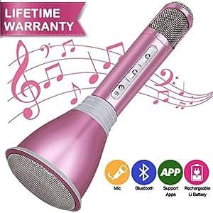Micrófono Inalámbrico Bluetooth, Micrófono Karaoke