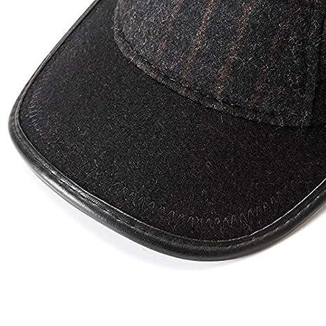 Amazon.com: Sinchi Kuzo Winter Warm Dad Hat Wool Palid Baseball Cap with Earflaps Man Adjustable Snapback Gorras Earmuffs Grid Fleece Lining Golf Hat: ...