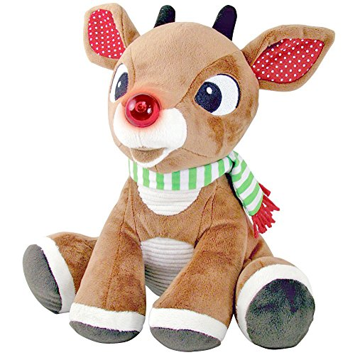 50th Anniversary Rudolph The Red-Nosed Reindeer Light Up Musical X-Mas Plush