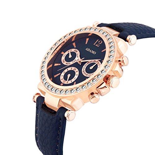 51 V2jmddjL. SS500  - ADAMO Multifunction Analog Blue Dial Women's Watch - A208KB05