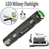 WISSBLUE X2 1600 high Lumen Tactical Flashlight Military Grade, 6 Mode 2M Waterproof Flashlight, Magnetic Base COB Light, LED Tactical Flashlight Rechargeable Gift Box Package Camping equipment