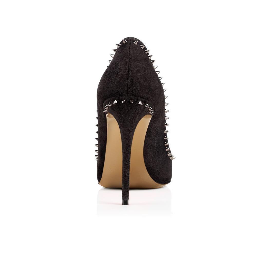 HN Shoes Mujer Estilete Alto Tacón Zapatos Puntiagudo Corte Inteligente Fiesta Trabajo Señoras Negro Zapatillas Vestir Club nocturno tamaño 35-44: ...