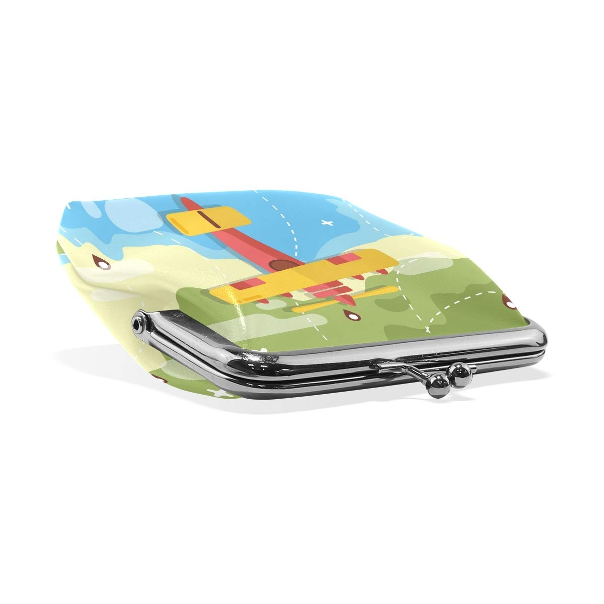 LALATOP Biplane Womens Coin Pouch Purse wallet Card Holder Clutch Handbag