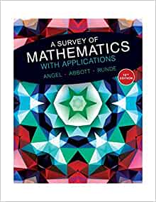 Amazon com: A Survey of Mathematics with Applications (10th