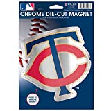 MLB Minnesota Twins Die Cut Logo Chrome Magnet, 6.25 x 9-Inch