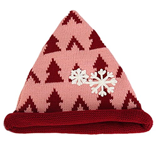 Binmer(TM) Baby Toddler Winter Beanie Snowflake Christmas Tree Crochet Earflap