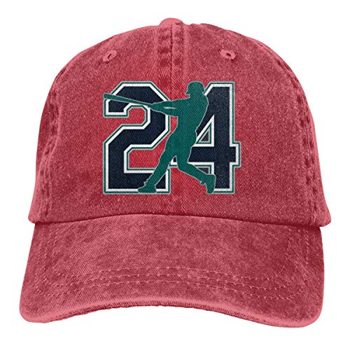 (Moore Me Adjustable Baseball Cap Seattle Griffey The Kid Cool Snapback Hats Red)