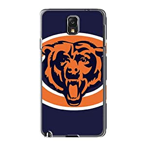 Perfect Hard Phone Cover For Samsung Galaxy Note 3 With Support Your Personal Customized HD Chicago Bears Image AshleySimms