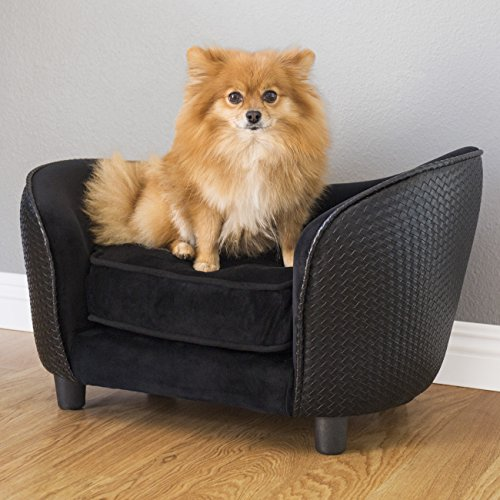 Cheap Best Choice Products Plush Pet Bed, Ideal for Small Dogs- Black