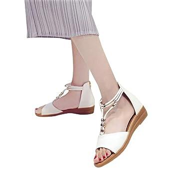 Calzado Chancletas Tacones Sandalias de Mujer Wedge Fish Mouth Verano Fornido Zapatos Romanos de Vacaciones ❤ Manadlian: Amazon.es: Deportes y aire libre