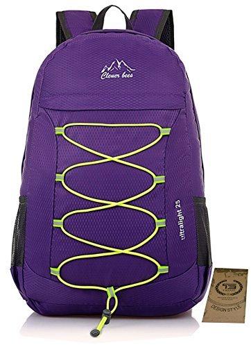 25L TIBAG Water Resistant Lightweight Packable Folding Foldable Daypack Backpack (FRUIT GREEN, LARGE)