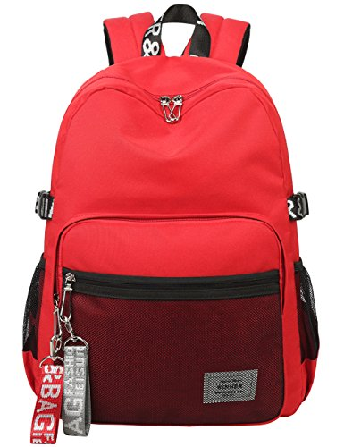 - Classic Backpack Haversack Travel School Bag Student Simple Daypack Bookbag by Mygreen(Red)