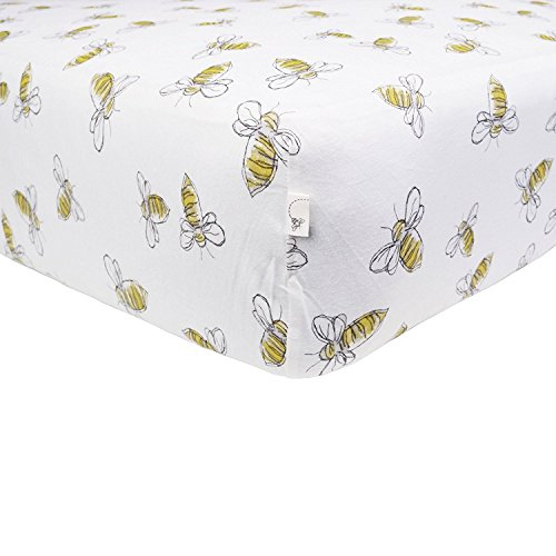 Burts-Bees-Baby-Scattered-Bees-Fitted-Sheet-Cloud-Crib