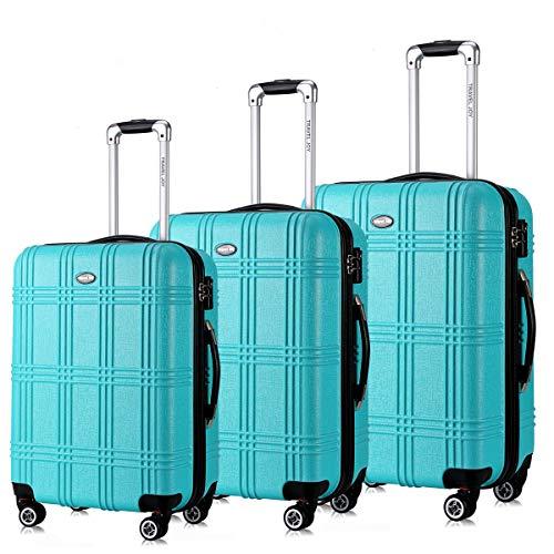 Wheel Turquoise (Expandable Hardside Luggage Set,TSA lightweight Doubl Wheel Spinner Luggage Sets, 20