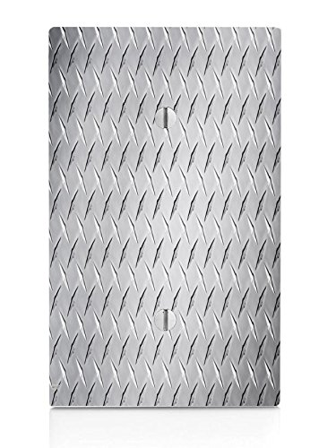 Diamond Plate Design Single Blank Electrical Switch Plate ()
