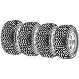 Set of 4 SunF G003 all-terrain 25x10.5-12 Front & 25x10.5-12 Rear ATV UTV Golf-Cart Turf Trail Tires, 4 Ply