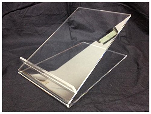 Small Clear Perspex Acrylic A4 Portrait Lectern Displays UK