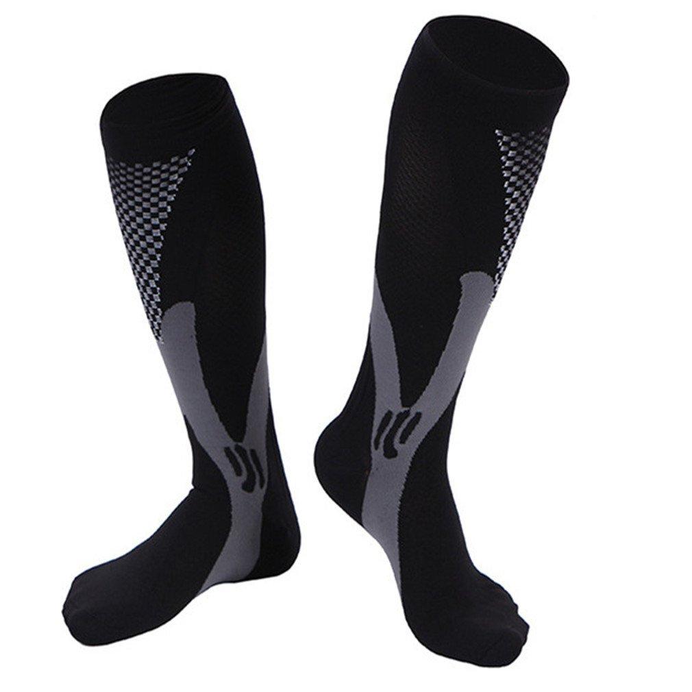 2 Pairs compression socks, women men compression stockings, knee high compression sock, graduated medical 20-30 mmhg compression socks, best athletic running compression socks