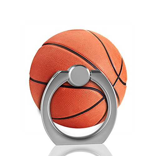 Universal Phone Expanding Metal Ring Stand Holder and Grip Mount for Smartphones and Tablets (Basketball)
