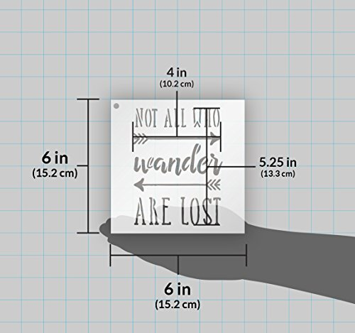 Not All Who Wander Are Lost Stencil for Painting Wood Signs by StudioR12   Reusable Template   Easy to Paint Perfect Lettering on Pallets - Fabric - Metal - Tin   Crafting DIY Home Decor   Select Size