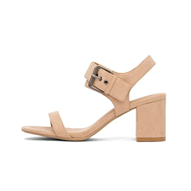 60900a002 Amazon.com | Matt and NAT Women's Vegan Elysa Block Heel Sandal ...