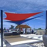 Patio Paradise 8' x 12' Red Sun Shade Sail