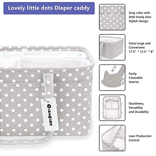 Baby Gifts Baby Storage and Organizer XL Diaper Organizer Caddy| Diaper Bin Diaper Caddy Baby Storage Bins Baby Bins for Storage Baby Diaper Caddy Organizer Storage Bin for Nursery
