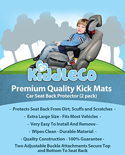 Premium Kick Mats 2 Pack Luxury Car Seat Back Protectors Best For Protection From Kids Dirt Scuffs Scratches Easy To Install Clean  Top Quality Extra Large Size Fits Cars Trucks SUVs