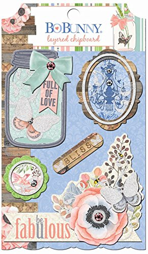 Butterfly Kisses Self-Adhesive Layered Chipboard-