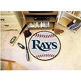 Fanmats Tampa Bay Rays Baseball Mat - Tampa Bay Devil Rays One Size by Fanmats